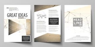 Bedrijfsmalplaatjes voor brochure, vlieger, boekje, rapport Het malplaatje van het dekkingsontwerp, vectorlay-out in A4 grootte t royalty-vrije illustratie