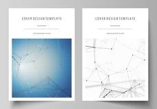 Bedrijfsmalplaatjes voor brochure, vlieger, boekje, rapport Het malplaatje van het dekkingsontwerp, vectorlay-out in A4 grootte G Stock Fotografie