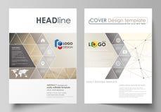 Bedrijfsmalplaatjes voor brochure, vlieger, boekje, rapport Het malplaatje van het dekkingsontwerp, vectorlay-out in A4 grootte t Stock Illustratie