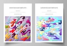 Bedrijfsmalplaatjes voor brochure, vlieger, rapport Het malplaatje van het dekkingsontwerp, abstracte vectorlay-out in A4 grootte Stock Illustratie