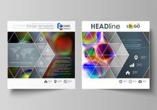 Bedrijfsmalplaatjes voor vierkante brochure, tijdschrift, vlieger, boekje of jaarverslag Pamfletdekking, vlakke vectorlay-out vector illustratie