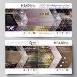 Bedrijfsmalplaatjes voor vierkante de vouwenbrochure van ontwerpbi, vlieger, boekje Pamfletdekking, vectorlay-out Samenvatting stock illustratie