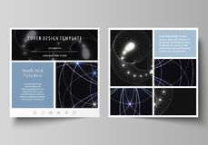 Bedrijfsmalplaatjes voor vierkante ontwerpbrochure, tijdschrift, vlieger, boekje of jaarverslag Pamfletdekking, abstracte vector stock illustratie