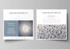 Bedrijfsmalplaatjes voor vierkante ontwerpbrochure, tijdschrift, vlieger, boekje of jaarverslag Pamfletdekking, abstracte vector vector illustratie