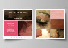 Bedrijfsmalplaatjes voor vierkante ontwerpbrochure, tijdschrift, vlieger, boekje Pamfletdekking, abstracte vectorlay-out romantis royalty-vrije illustratie