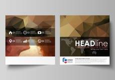 Bedrijfsmalplaatjes voor vierkante ontwerpbrochure, tijdschrift, vlieger, boekje Pamfletdekking, abstracte vectorlay-out romantis vector illustratie