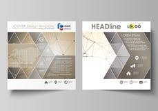 Bedrijfsmalplaatjes voor vierkante ontwerpbrochure, tijdschrift, vlieger, boekje, rapport Pamfletdekking, vectorlay-out royalty-vrije illustratie