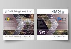 Bedrijfsmalplaatjes voor vierkante ontwerpbrochure, tijdschrift, vlieger, boekje of rapport Pamfletdekking, vectorlay-out stock illustratie