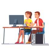 Bedrijfsman en Vrouw die samenwerken Stock Afbeelding