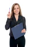 Bedrijfsmeisje die een goed idee hebben Stock Foto