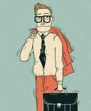 Bedrijfsmens in bureaukleren. royalty-vrije illustratie
