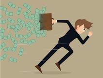 Bedrijfsmens concurrerend met zaken Stock Afbeeldingen