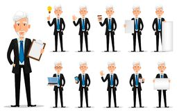Bedrijfsmens in de kleren van de bureaustijl Stock Fotografie