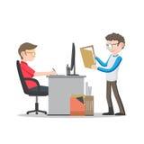 Bedrijfsmens die aan bureau werken Royalty-vrije Stock Afbeeldingen
