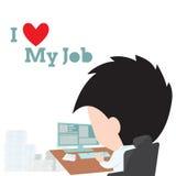 Bedrijfsmens die met computer en zeer belangrijke gegevens in de computer voor al document en het woord werken Royalty-vrije Stock Foto
