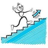 Bedrijfsmens die omhoog springen stock illustratie