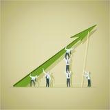 Bedrijfsmens die voltooiingsgrafiek proberen te verbeteren royalty-vrije illustratie