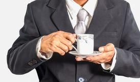 Bedrijfsmens met koffiekop Royalty-vrije Stock Afbeelding
