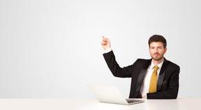 Bedrijfsmens met witte achtergrond Royalty-vrije Stock Afbeelding
