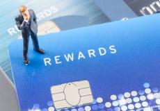 Bedrijfsmens op de creditcard, online shoping concept Royalty-vrije Stock Fotografie