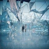 Bedrijfsmensen in abstracte ruimte Stock Afbeelding