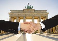 Bedrijfsmensen in Berlijn Stock Foto's
