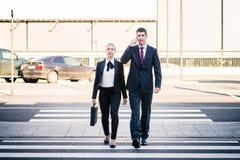 Bedrijfsmensen bij luchthaven het eind reizen Royalty-vrije Stock Foto