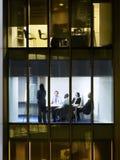Bedrijfsmensen in Conferentiezaal stock afbeeldingen