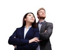 Bedrijfsmensen die aan de toekomst kijken Royalty-vrije Stock Afbeeldingen