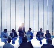 Bedrijfsmensen die Brainstorming Team Concept ontmoeten Stock Fotografie