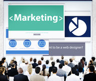 Bedrijfsmensen die de Concepten van het Webontwerp op de markt brengen Royalty-vrije Stock Afbeelding