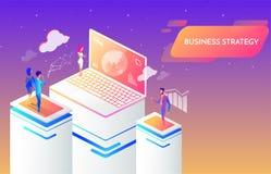 Bedrijfsmensen die en een succesvol bedrijfsstrategie, een marketing en een financi?nconcept samenwerken ontwikkelen royalty-vrije illustratie