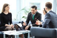 Bedrijfsmensen die het Collectieve Concept van de Conferentiebespreking ontmoeten stock afbeeldingen