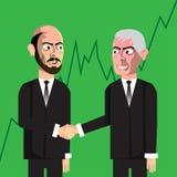 Bedrijfsmensen die overeenkomst maken vector illustratie