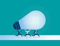 Bedrijfsmensen die in samenwerking voor succes werken royalty-vrije illustratie