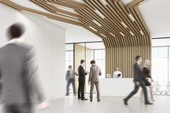 Bedrijfsmensen in een ruimte met pijpen Stock Fotografie
