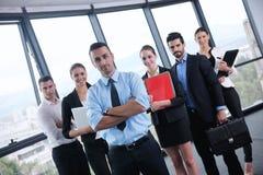 Bedrijfsmensen in een vergadering op kantoor Royalty-vrije Stock Foto's