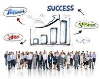 Bedrijfsmensen en Succesconcepten Royalty-vrije Stock Afbeeldingen
