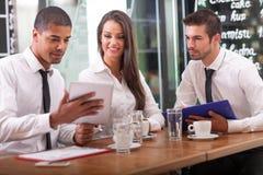 Bedrijfsmensen en vennootschapconcept Royalty-vrije Stock Afbeelding