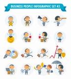 Bedrijfsmensen Infographic Vastgestelde #3 Stock Afbeeldingen