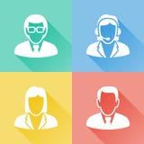 Bedrijfsmensen kleurrijke vlakke pictogrammen Royalty-vrije Stock Foto's