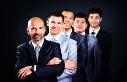 Bedrijfsmensen met leider royalty-vrije stock foto