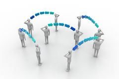 Bedrijfsmensen in netwerkverbinding Royalty-vrije Stock Foto