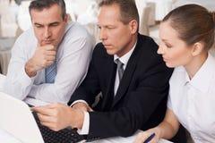 Bedrijfsmensen op het werk. Stock Fotografie