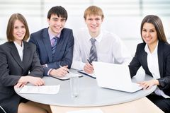 Bedrijfsmensen op kantoor Royalty-vrije Stock Afbeelding