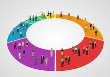 Bedrijfsmensen over grafiek Stock Afbeelding