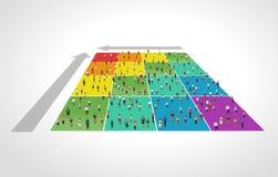 Bedrijfsmensen over grafiek Stock Fotografie