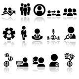 Bedrijfsmensen vectorpictogrammen geplaatst EPS 10 Stock Foto's
