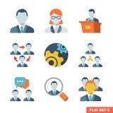 Bedrijfsmensen Vlakke pictogrammen Vector Illustratie