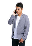 Bedrijfsmensenbespreking aan telefoon Royalty-vrije Stock Foto